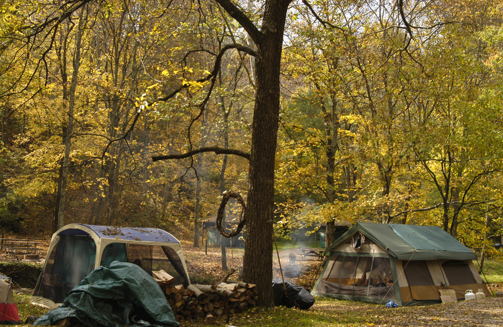 Camping near Allentown, Pennsylvania